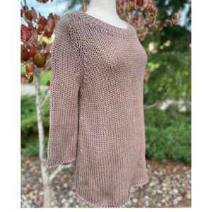 Soft Surroundings cable knit sweater Large
